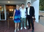 Rosa Mestre (Presidenta del club), Jordi Tamayo (President de la FCT), Josep Moya (Regidor d'Esports)
